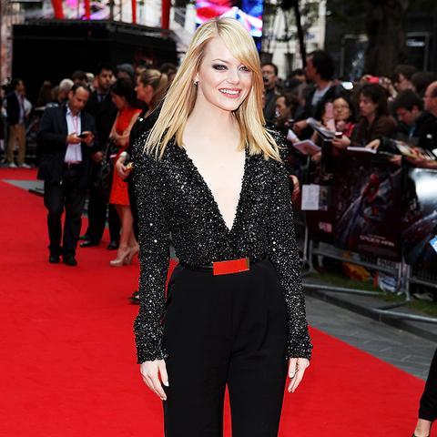 Emma Stone Amazing Spider-man UK premiere red carpet