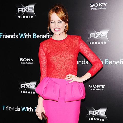 Emma Stone Friends with Benefits NY premiere red carpet