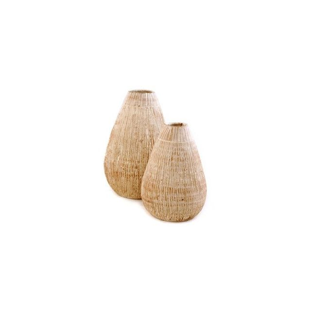 Accompany Coconut Shell Pattern Ceramic Vases