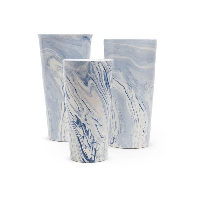 Furbish Studio Blue Swirl Taper Vase