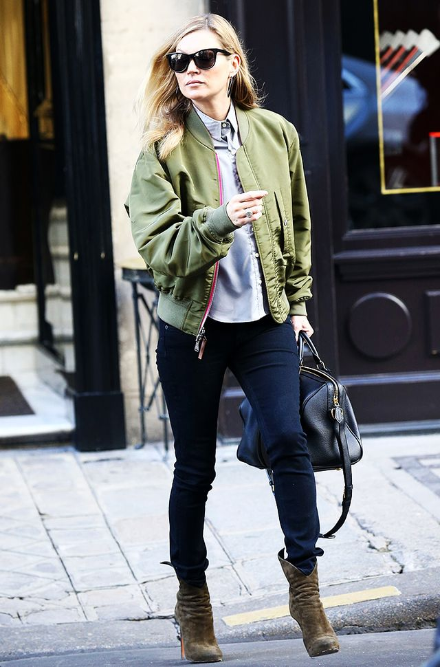 A bomber jacket takes any outfit to cool-girl territory: