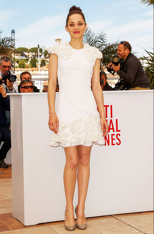 Take a white dress from simple to stunning with the addition of texture, embellishment, and/or ruffles: