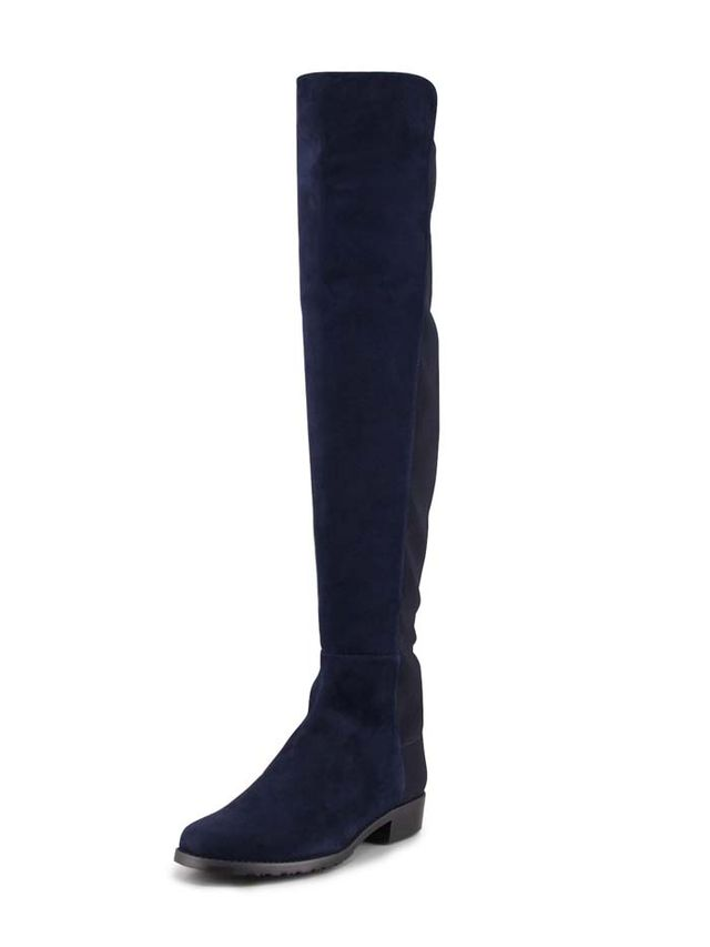 Stuart Weitzman Wide Suede Stretch Over-the-Knee Boots