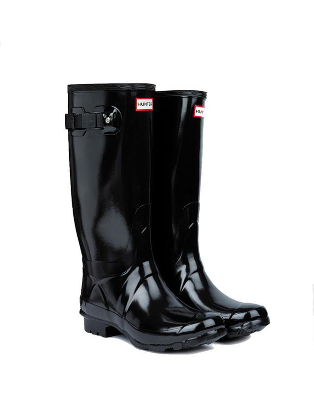 Hunter Huntress Gloss Wider Calf Rain Boots