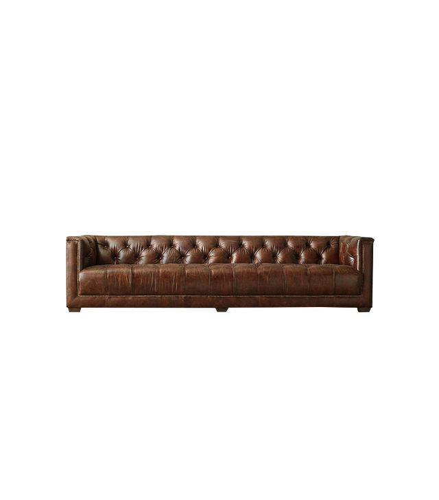 Restoration Hardware Savoy Leather Sofa