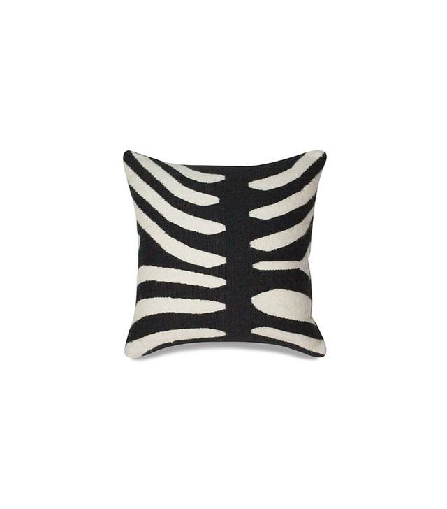Jonathan Adler Black Zebra Pop Throw Pillow