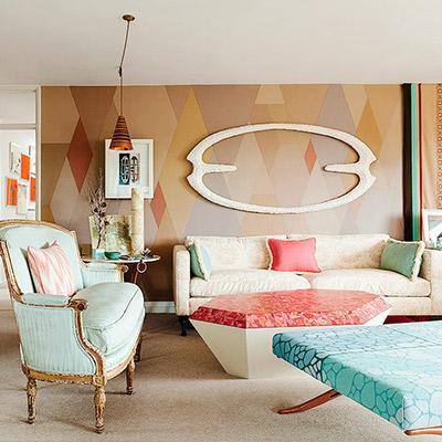 Inside Ashley Hicks' Pattern-Packed, Surrealist Rental Flat