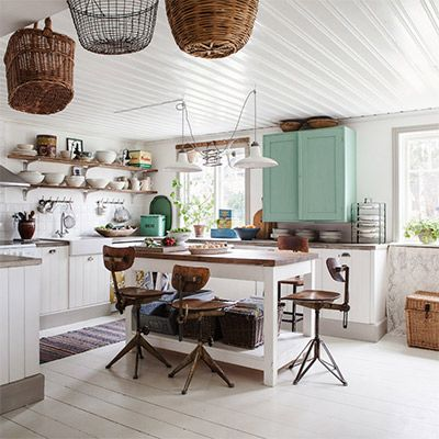 Shop the Room: A Feminine-Industrial Country Kitchen