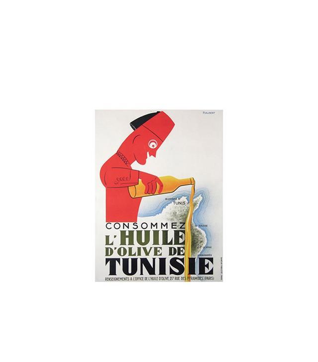 """Jean Piabert """"Huile D'Olive de Tunis"""" Poster"""