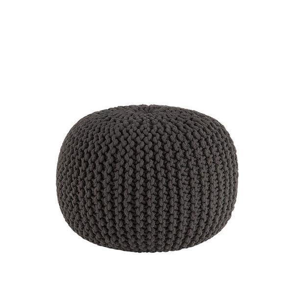 CB2 Knitted Graphite Pouf