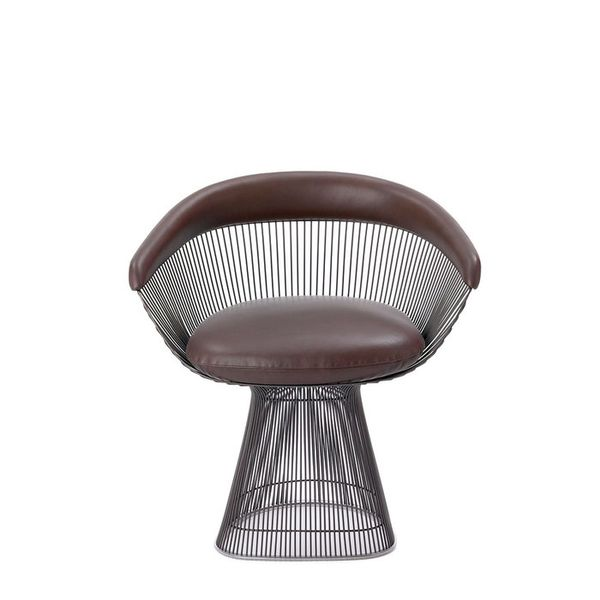 Warren Platner for Knoll Leather Armchair