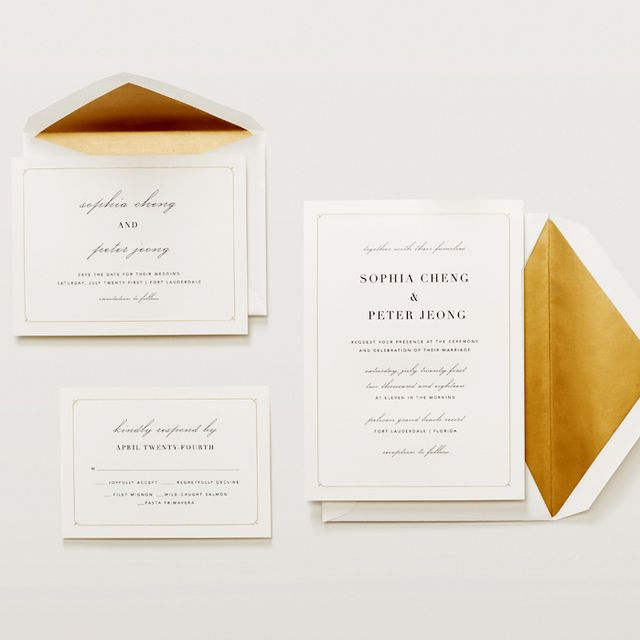 Your Wedding Invitations Can Be Designed By Vera Wang