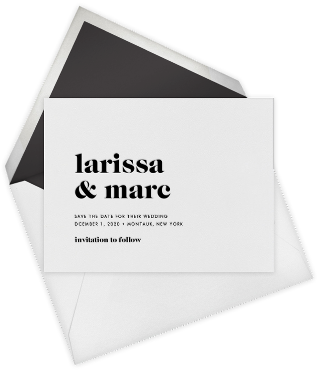 Vera Wang for Paperless Post Principle (Save the Date)