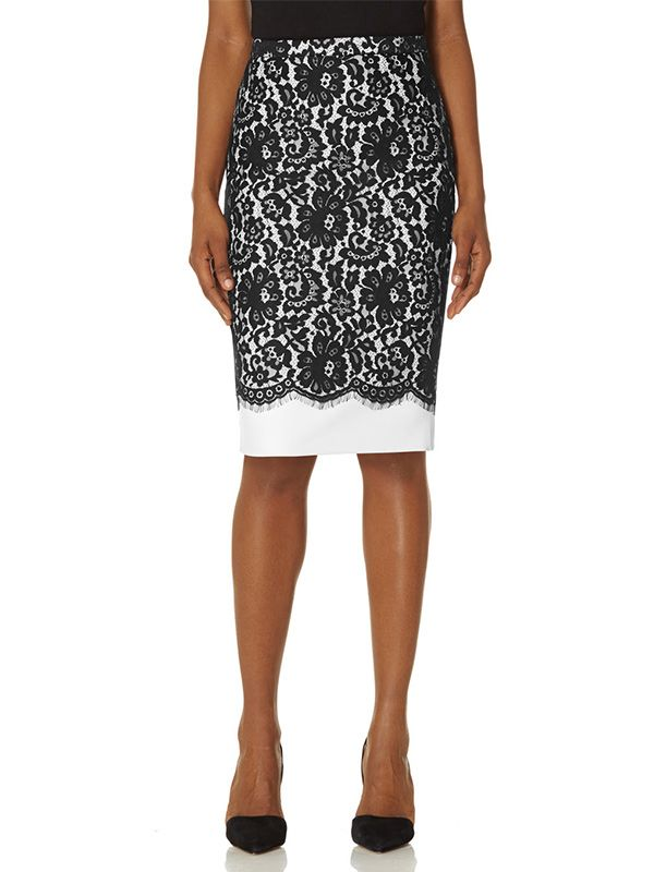 The Limited Scandal Collection Lace Overlay Skirt
