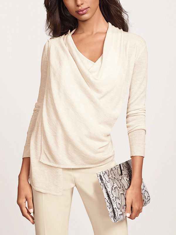 The Limited Scandal Collection Draped Front Cardigan