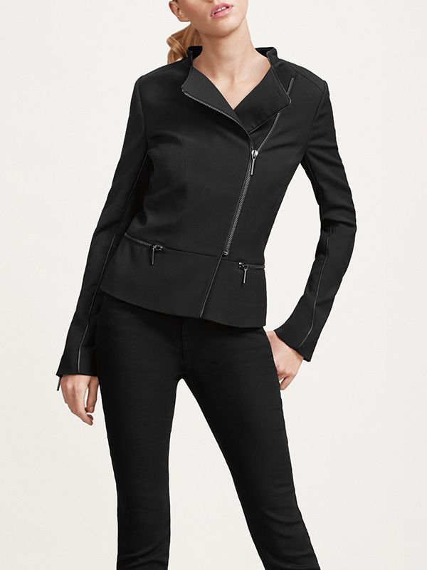 The Limited Scandal Collection Mixed Media Peplum Jacket