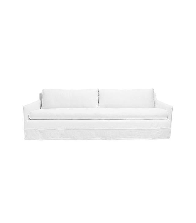 Urbn 2.0 White Belgian Linen Sofa
