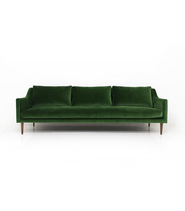 Mod Shop Naples Sofa in Emerald Green Velvet