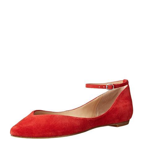 Morrison Sable Ankle Strap Flats