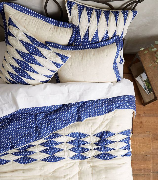 Anthropologie Dotted Ikat Quilt