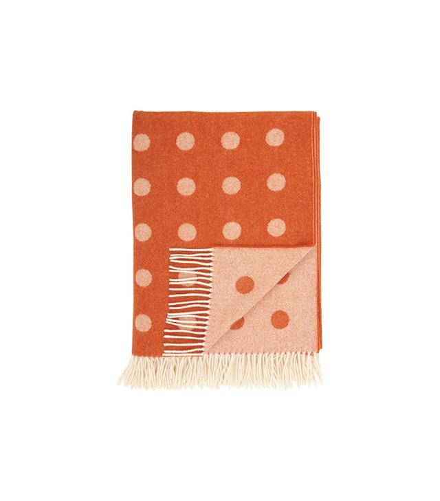 Barneys New York Dot-Pattern Throw Blanket
