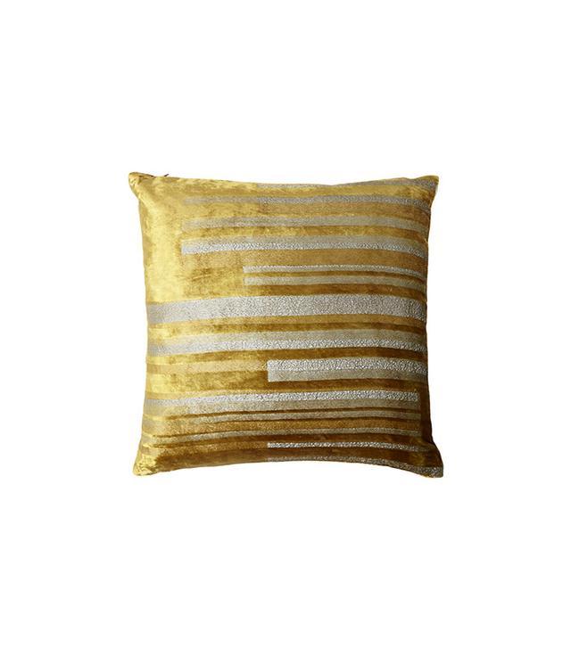 Kevin O'Brien Stripe Velvet Pillow