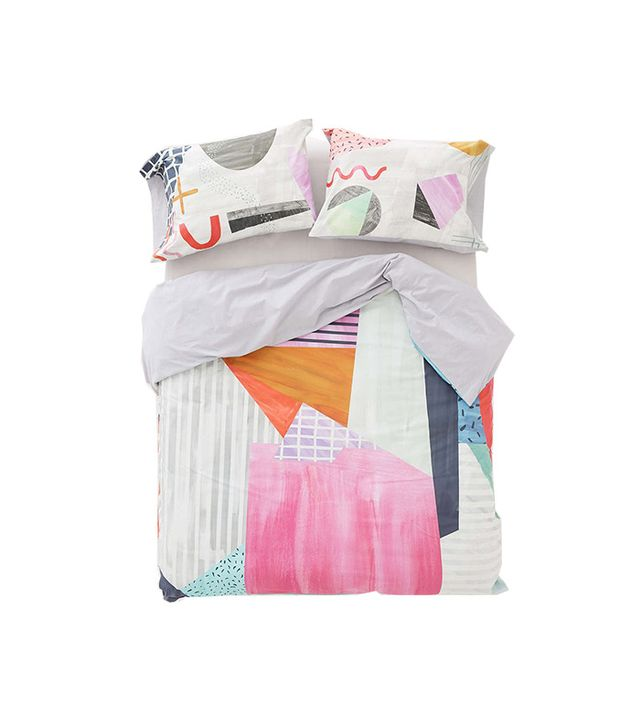 Urban Outfitters Agnes Colorblock Duvet Cover
