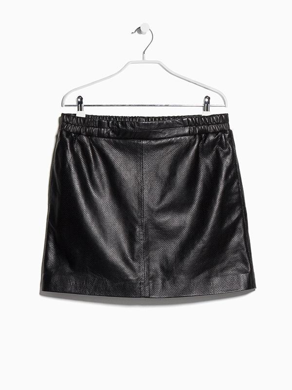 Mango Laser-Cut Leather Skirt