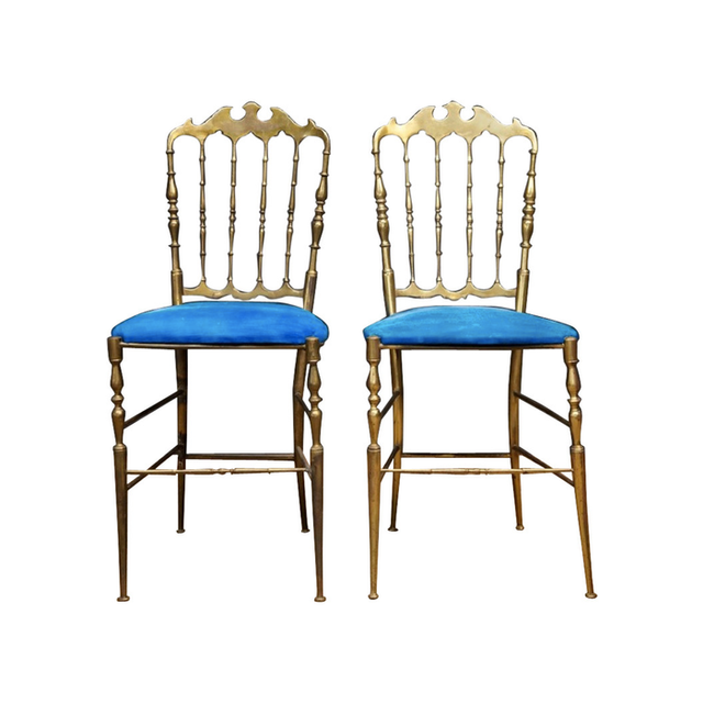 1st Dibs Brass Chiavari Chairs