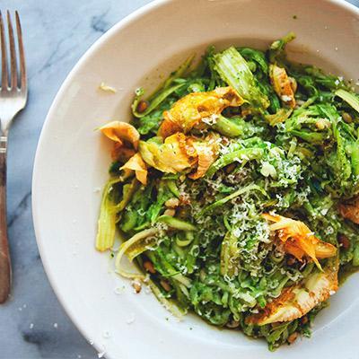 Delectable Zucchini Pesto Pasta