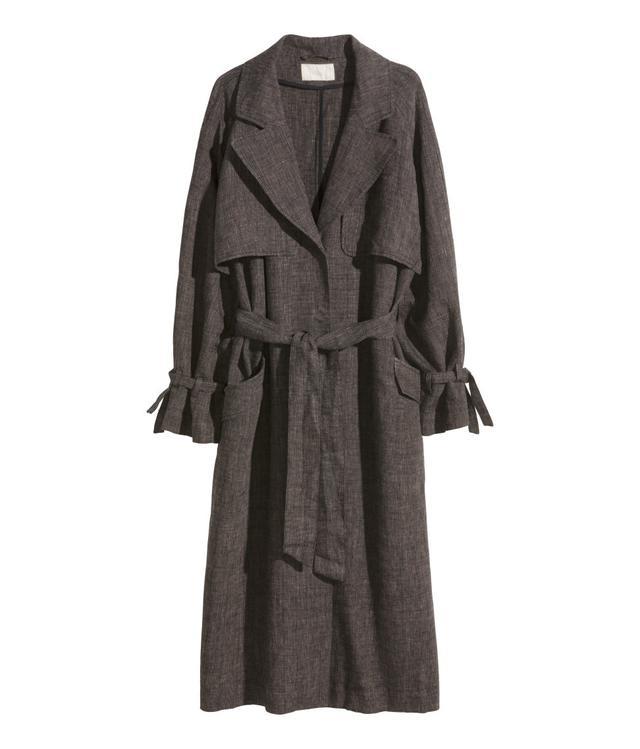 H&M Linen Trenchcoat