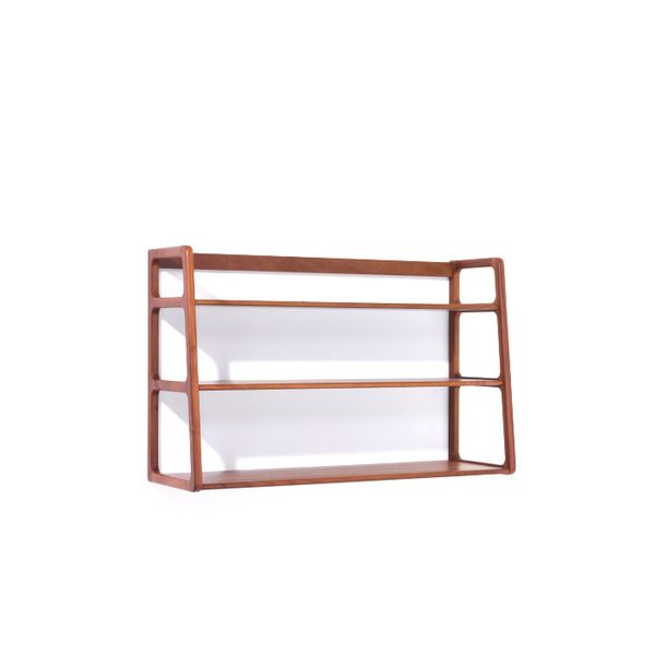 Kay + Stemmer Agnes Wall Rack in Walnut