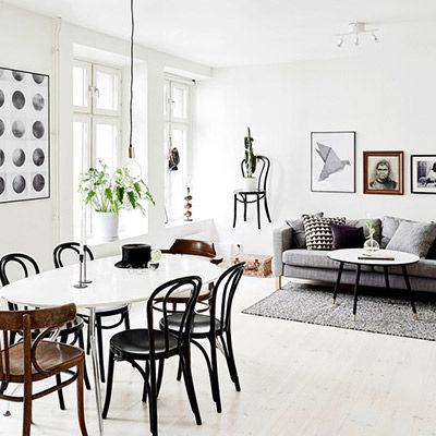 Tour an Eclectic and Cosy Black-and-White Space