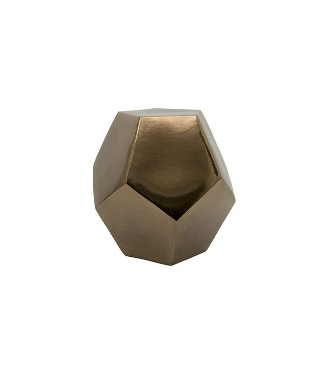 Jayson Home Geo Gold Stool