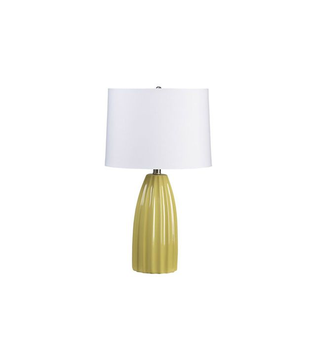 Crate & Barrel Ella Yellow Table Lamp