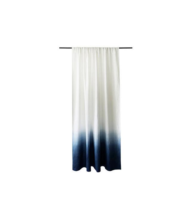 Etsy Ombrè Indigo Linen Curtain