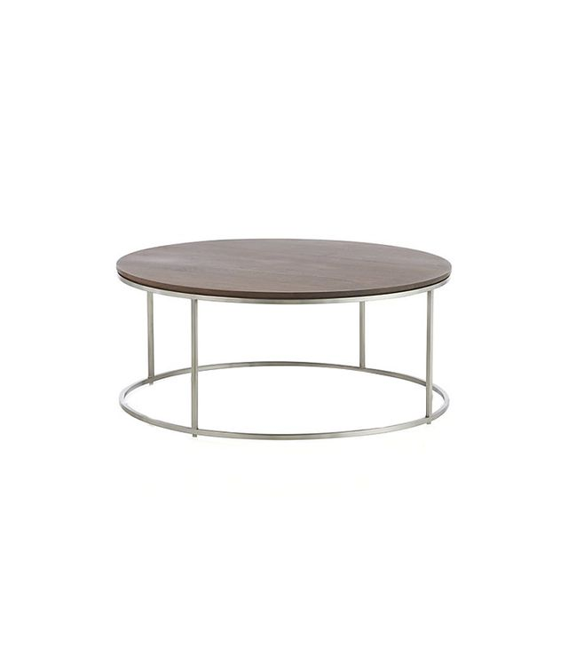 Crate & Barrel Frame Round Coffee Table