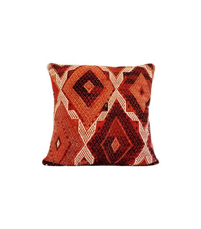Busra Carpet and Gifts Kilim Pillow w/ Geometric Cicim