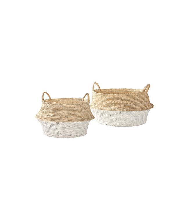 Serena & Lily Round Belly Baskets