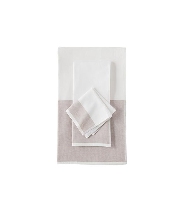 Serena & Lily Fouta Colour Block Towels