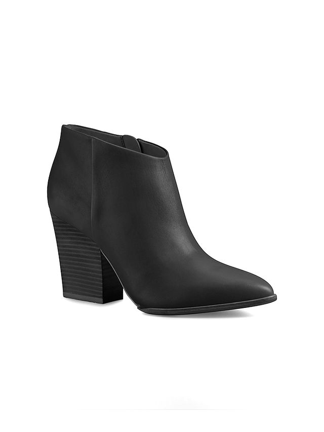 White Label Zabrina Heeled Leather Booties