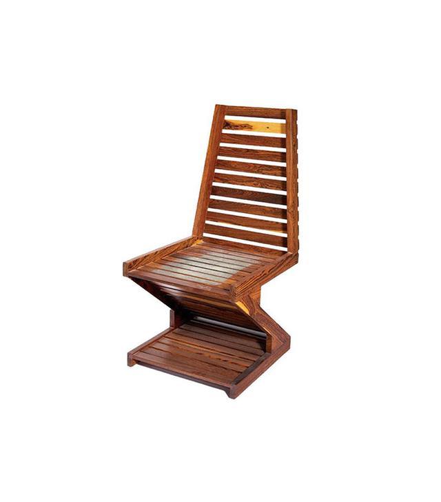 Don Shoemaker Rare Zig Zag Cocobolo Wood Chair