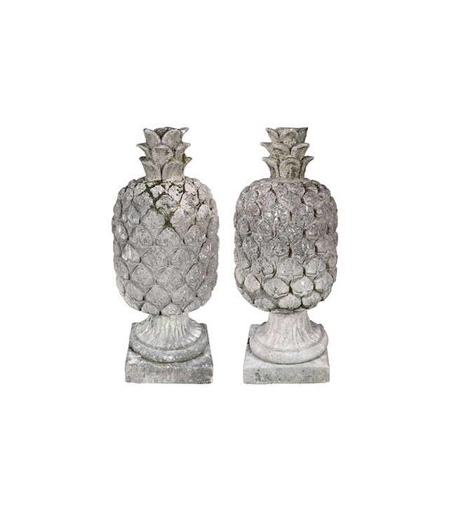 Vintage Pair of Carved Stone Pineapples
