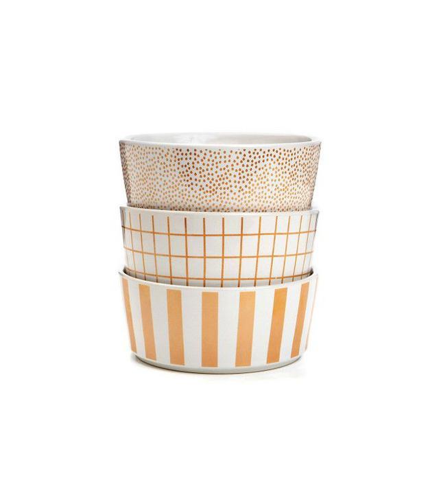 Waggo Secktacular Polka Dot Gold Dog Bowl
