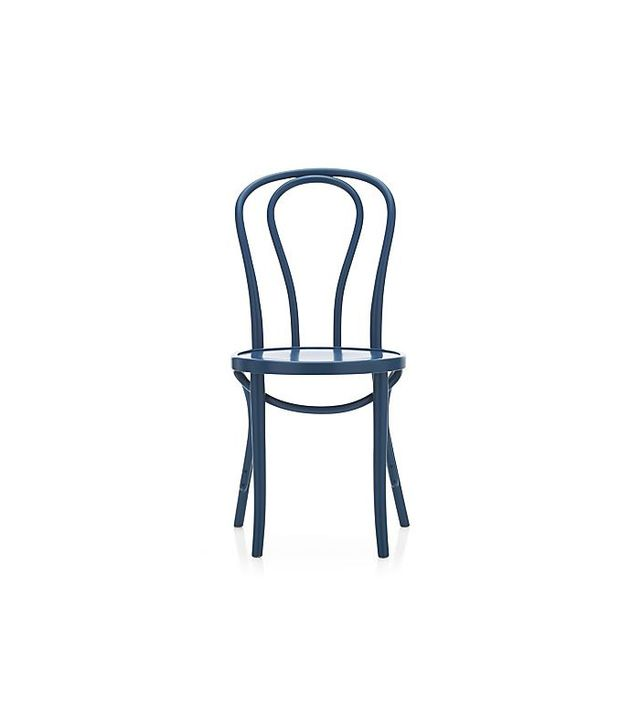 Crate & Barrel Vienna Side Chair in Peacock
