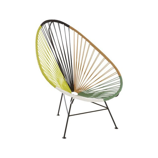 CB2 Acapulco Green Outdoor Lounge Chair