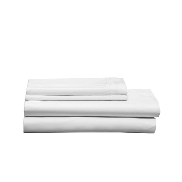 Calvin Klein Home Tailored Band Percale White Sheeting