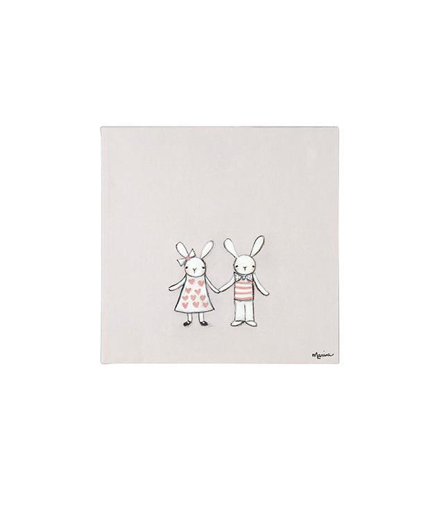 Land of Nod Bunny Love Wall Art