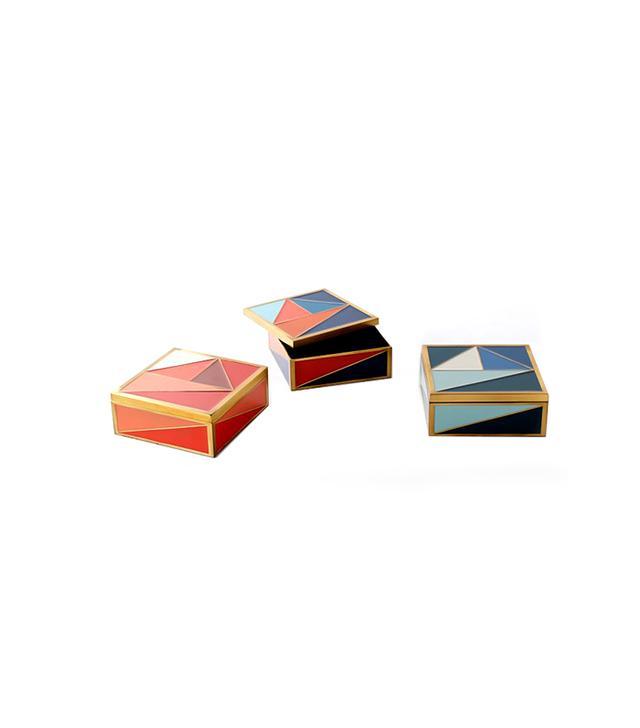 West Elm Graphic Enamel Tile Box