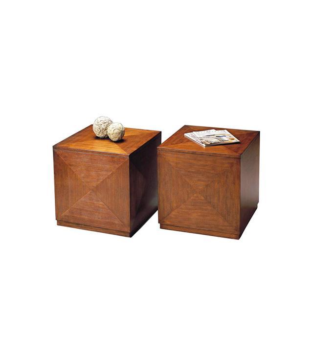 Lamps Plus Transitions Chestnut Burl Bunching Cube